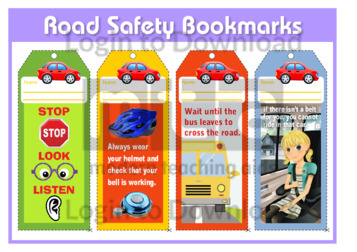 Road Safety Bookmarks