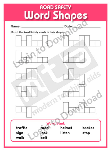 Road Safety Word Shapes