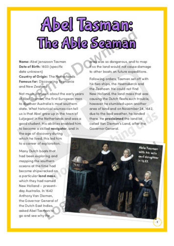 Abel Tasman: The Able Seaman