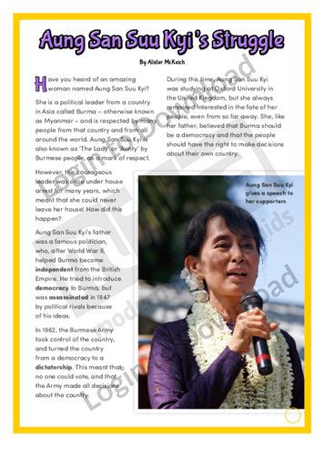 Aung San Suu Kyi's Struggle