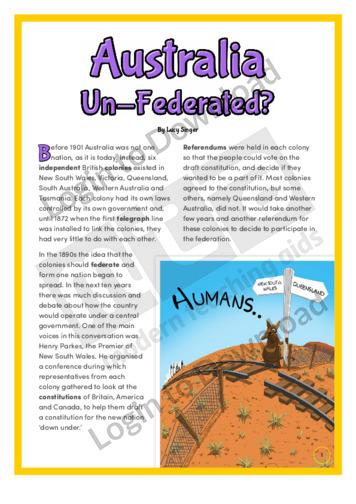 Australia Un-Federated?