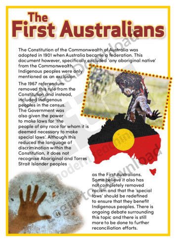 The First Australians