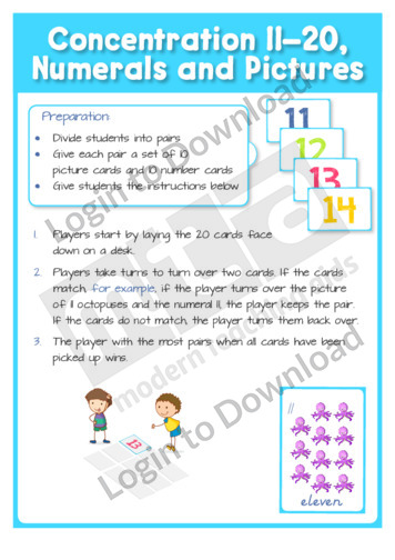 Concentration 11-20, Numerals and Pictures