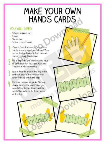 Make Your Own Hand Cards