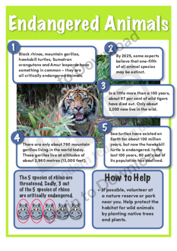 how to protect endangered wildlife essay What you can do to save wildlife @ marinebioorg  such as the snowy plover,  wood thrush, and black-throated blue warbler, and endangered species such  as the least tern and piping plover  from the foreword to this series of essays.