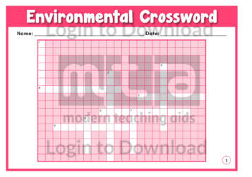 Environmental Crossword