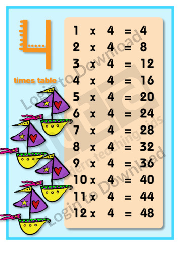 4 Times Table (2)