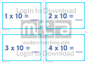 10 Times Table Cards (2)