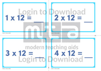 12 Times Table Cards (2)