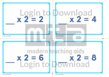 2 Times Table Missing Number Cards (2)