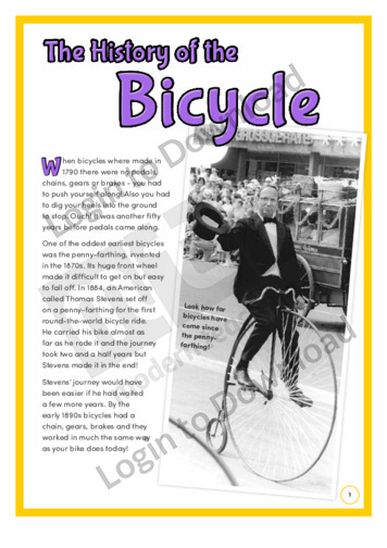 The History of the Bicycle