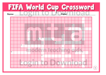 FIFA World Cup Crossword