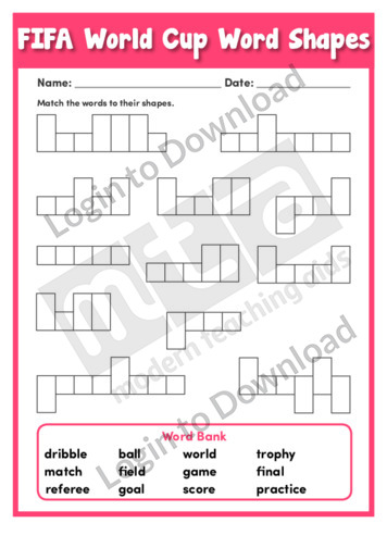 FIFA World Cup Word Shapes