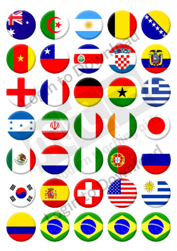 World Cup Country Stickers