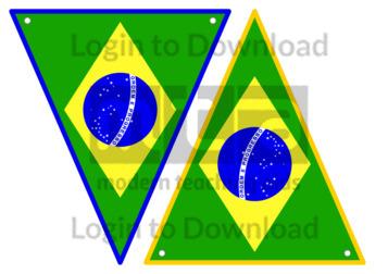 Brazilian Flag Bunting
