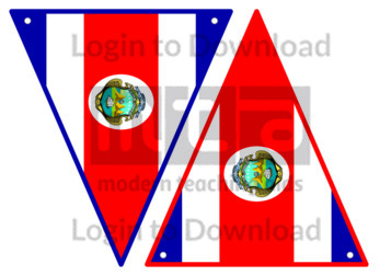 Costa Rican Flag Bunting