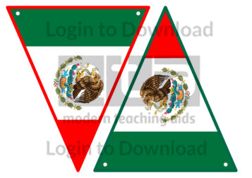 Mexican Flag Bunting