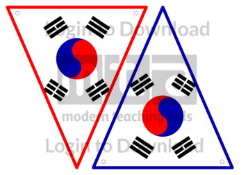 Korea Republic Flag Bunting