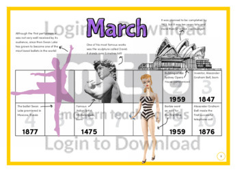 History at a Glance: March (2)