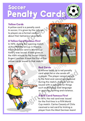 Soccer Penalty Cards