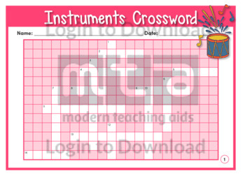 Instruments Crossword