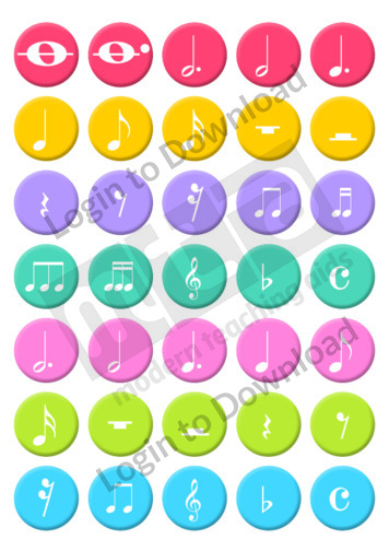 Music Note Rhythm Stickers