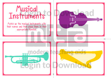 Musical Instruments Match-Up Cards