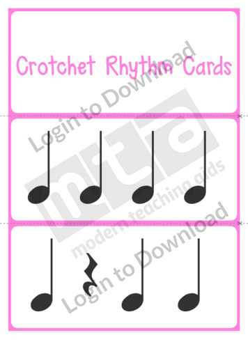 Crotchet Rhythm Cards
