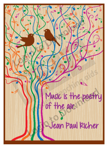 Music is Poetry Poster