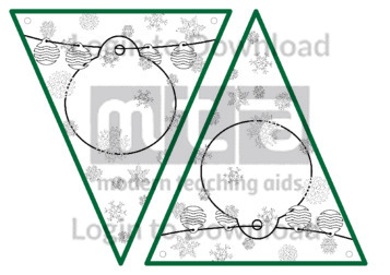 Christmas Bunting: Baubles (B&W)