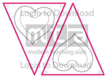 Valentine's Day Bunting (B&W)