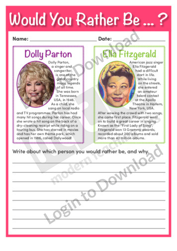 Would You Rather Be Dolly Parton or Ella Fitzgerald?