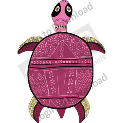 116502Z01_Clipart_AboriginalTurtle01