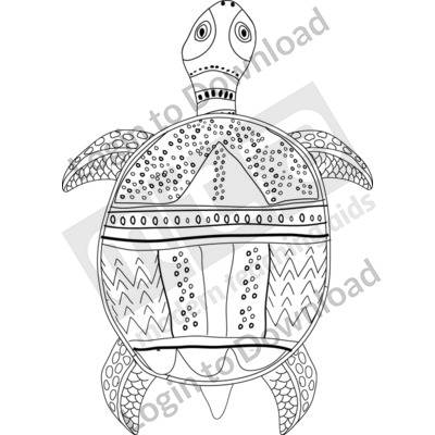 116503Z01_Clipart_AboriginalTurtleBW01
