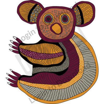 116506Z01_Clipart_AboriginalKoala01