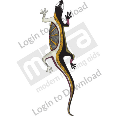 116508Z01_Clipart_AboriginalLizard01