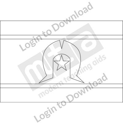 Torres Strait Islander Flag B&W