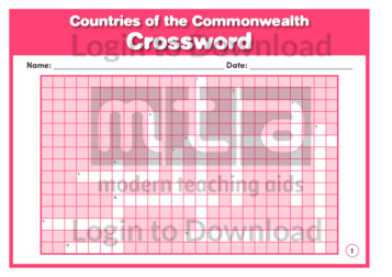 Countries of the Commonwealth Crossword