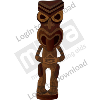 Wood carving figure