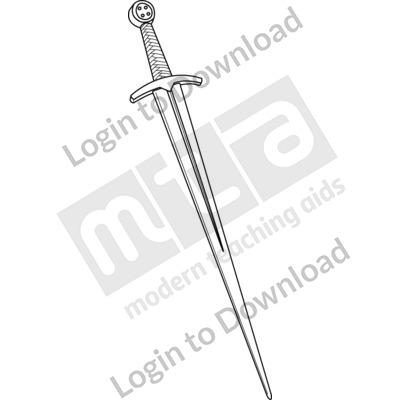 Anglo-Saxon sword B&W