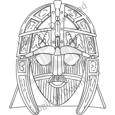 Anglo-Saxon helmet B&W
