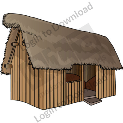Anglo-Saxon thatched house