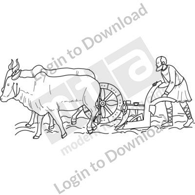 Anglo-Saxon farming B&W