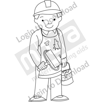 Young tradesperson B&W