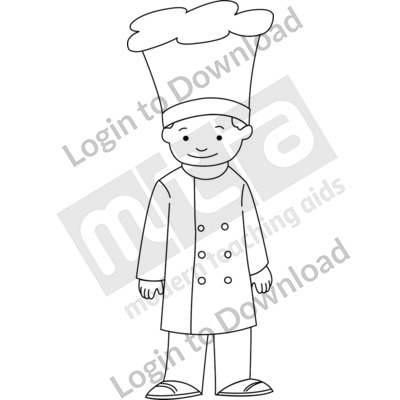 Young chef B&W