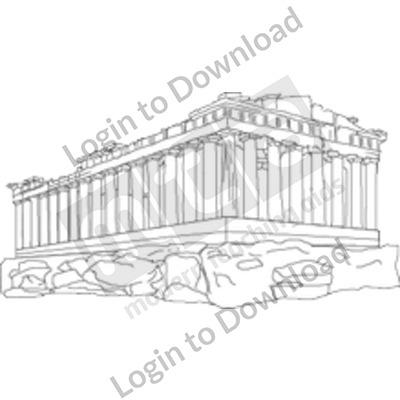 Greek Parthenon B&W