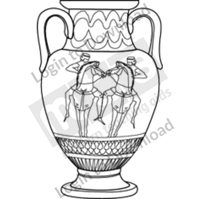 Greek vase B&W