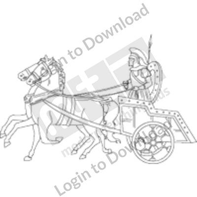 Chariot race B&W