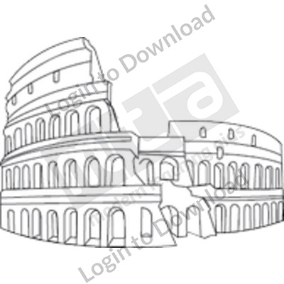 Roman Colosseum B&W