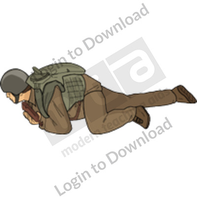 Crawling soldier